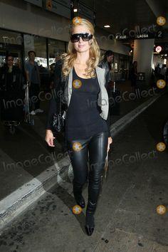 Paris Hilton @ LAX Paris Hilton, Leather Fashion, Celebrity Photos, Photo Library, Latex, Winter Fashion, Leather Pants, My Style, Celebrities