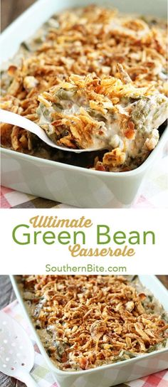 This recipe for Green Bean Casserole takes the classic dish up a notch by adding. - This recipe for Green Bean Casserole takes the classic dish up a notch by adding bacon, mushrooms, - Greenbean Casserole Recipe, Easy Casserole Recipes, Chicken Casserole, Casserole Dishes, Taco Casserole, Cowboy Casserole, Baked Bean Casserole, Casserole Ideas, Best Thanksgiving Recipes