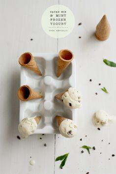 Cacao Nib And Mint Frozen Yogurt | Cook Republic