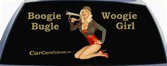 Pinup Girl Bugle Girl Custom Rear Window Graphic