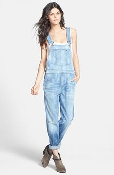 [Citizens of Humanity 'Quincey' Distressed Denim Overalls]
