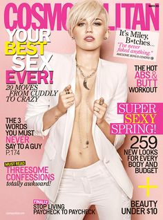 Miley Cyrus takes her top off, drops the f-bomb, and bites off the Disney hand that fed her in an interview and photo shoot for her fourth studio album.