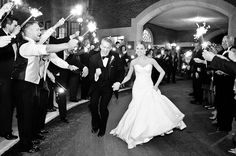 love the sparkler idea! and what the groom is doing lol