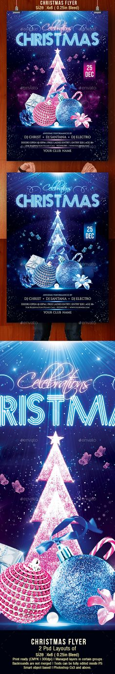 Celebrate this Christmas with Blue Tone Christmas Party Flyer. ThisChristmas Flyer is a perfect for celebration xmas. File Specifications:High Quality Graphics2 Psd of 4x6 inches (with 0.25in bleed )CMYK 300dpi Print Ready Fully editable smart object ba