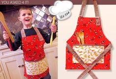 lil chef apron tutorial. been looking for one for my sous chef