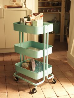 RÅSKOG Kitchen cart, gray (also available in turquoise), from Ikea ...