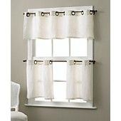 "Elrene Window Treatments, Pair of Essex Grommet 30"" x 24"" Cafe Curtains"