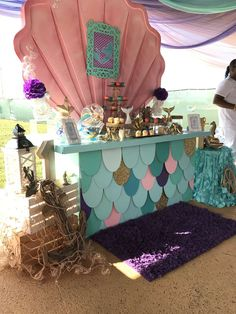 Janiyla's under the sea mermaid party | CatchMyParty.com