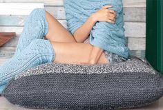 Квадратная напольная подушка - схема вязания спицами. Вяжем Подушки на Verena.ru