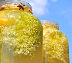 raw elderflower cordial by Olivia Steer Raw Food Recipes, Dessert Recipes, Healthy Recipes, Non Alcoholic Drinks, Beverages, Long Drink, Romanian Food, Pastry Cake, Dessert Drinks