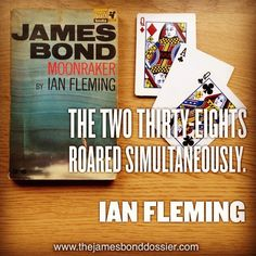 Moonraker drew some criticism for Ian Fleming upon publication as it doesn't have the exotic locales of the previous books.  It does have a fantastic card game though to make up for its UK setting.  BTW if you like this post why don't you follow me ;) Q James Bond, James Bond Books, Card Games, Exotic, Instagram Posts, Cards, How To Make, Style, Swag