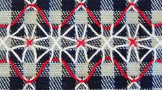Broderie Suisse / Swiss Embroidery / Chicken Scratch - Stitch Image - Geometric Flower