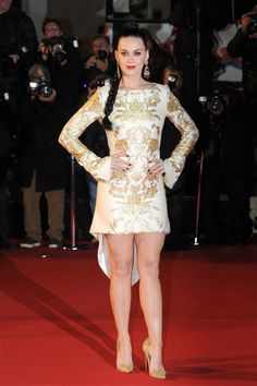 Katy Perry arrives at the 15th NRJ Music Awards held at the Palais des Festivals in Cannes on Dec. 14, 2013.