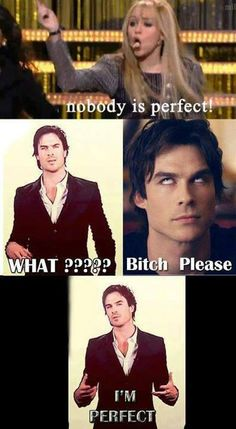Find images and videos about perfect, the vampire diaries and ian somerhalder on We Heart It - the app to get lost in what you love. Vampire Diaries Memes, Vampire Diaries Damon, Serie The Vampire Diaries, Vampire Diaries Poster, Ian Somerhalder Vampire Diaries, Vampire Diaries Wallpaper, Vampire Daries, Vampire Diaries The Originals, Stefan Salvatore
