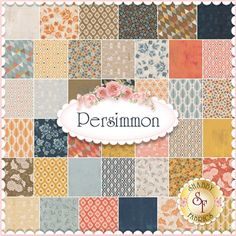 "Persimmon by BasicGrey for Moda Fabrics. 100% Cotton. This charm pack contains 42 squares, each measuring 5"" x 5""."