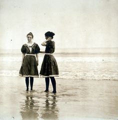 at the beach ca. 1900  | re-pinned by http://www.wfpcc.com/palmbeachrealestate.php