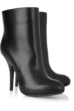 Leather ankle boots by Lanvin
