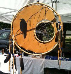 Ravens Dream 12 inch Medicine Shield with 5 inch by LozensArt