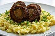 Recept Roláda z mletého masa plněná růžičkovou kapustou Meatloaf, Risotto, Beef, Ethnic Recipes, Meat, Steak