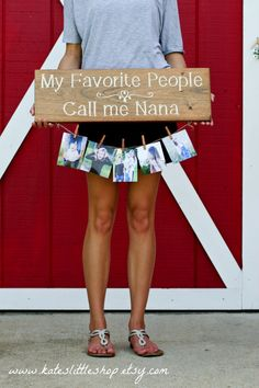 Beautiful HAND PAINTED & STAINED Grandparent Picture Holder Sign. My Favorite People Call Me Nana  SELECT NAME YOU WOULD LIKE FROM DROP DOWN