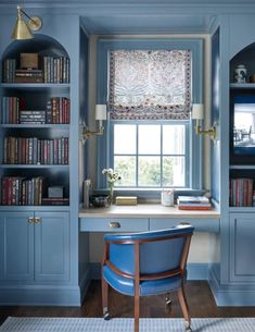 Office Nook, Home Office Space, Office Spaces, Work Spaces, Cozy Living Spaces, Studio Kitchen, Atlanta Homes, Rose Cottage, Built Ins