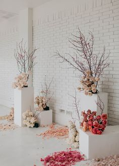 Modern, Romantic, + Unique Bridal Boutique|a&bé bridal shop Fresh + Modern Whites and Spring Florals Modern Wedding Theme, Modern Wedding Inspiration, Floral Wedding, Wedding Flowers, Bouquet Wedding, Wedding Nails, Diy Wedding Backdrop, Floral Backdrop, Wedding Decorations