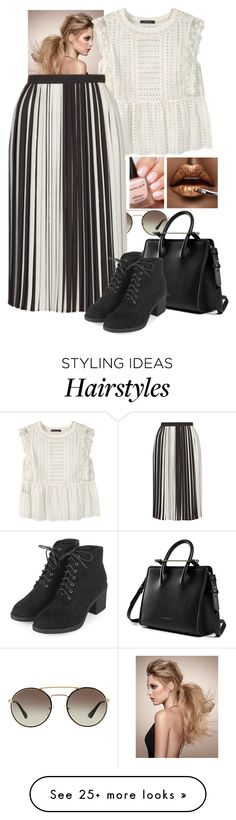 """Untitled #407"" by mrszayn-theo on Polyvore featuring Prada, Violeta by Mango and Topshop"