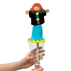 Make a Pop Up Puppet, I've seen these at the store, so cute to be able to make your own.