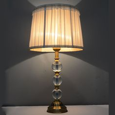 Vintage Luxury Crystal Ball Table Lamp E27 Living Room Bedroom Bedside Grey Fabric Lamp shades Deco Desk Light 110-220V living room ideas * AliExpress Affiliate's Pin.  Click the image to visit the AliExpress website
