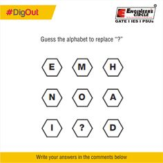 """Guess the alphabet to replace """"?""""  #DigOut #GuessTheAnswer"""