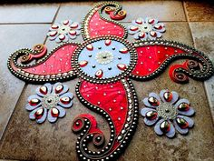 Acrylic Rangoli with Marble look Marble Rangoli by JustForElegance