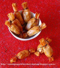 CARAMELOS DE SOBRASADA Y MIEL Pasta filo. Mantequilla derretida. Sobrasada. Miel. Tallos de cebollino.