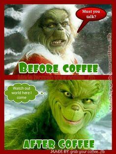 Grinch needs coffee Coffee World, Coffee Is Life, I Love Coffee, Coffee Break, Coffee Coffee, Coffee Talk, Coffee Jokes, Coffee Quotes Funny, Morning Coffee Funny