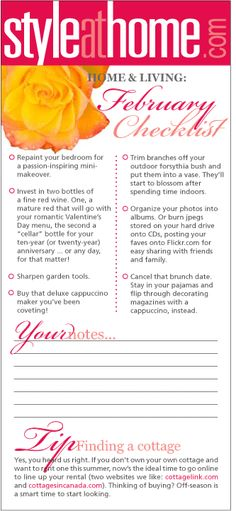 Home & living checklist: February - Style At Home