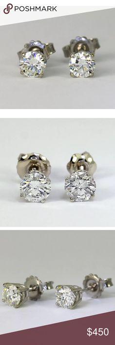 0.70 carat 14k diamond stud earrings 0.70 carat 14k diamond stud earrings! Comes with certification! G color/SI2 clarity! Jewelry Earrings