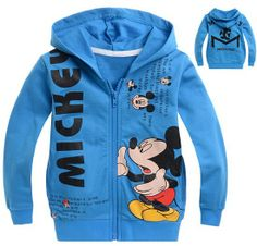 ht48 cartoon mickey mouse design kids jackets & coats for boys outerwear new 2014 children hoodies 6pcs/ lot free shipping