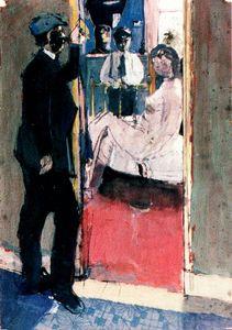 -1954 Durante os anos 50 as suas pinturas desenvolvem um tema abstracto.