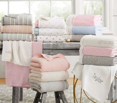 Pottery Barn Kids offers kids & baby furniture, bedding and toys designed to delight and inspire. Create or shop a baby registry to find the perfect present. Custom Baby Gifts, Personalized Baby Gifts, Boy Diaper Bags, Stroller Blanket, Personalised Blankets, Baby Furniture, Nursery Bedding, Pottery Barn Kids, Baby Strollers