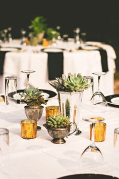 Succulent table decor | Photo by Briana Purser