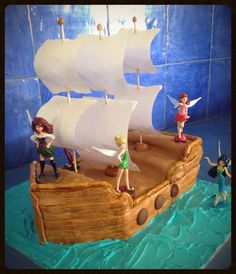 My daughters 4th birthday cake Tinkerbell and the pirate fairy Disney fairies  Zarina