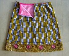 Three Batiks skirt African waxprint skirt A-line by LUREaLURE