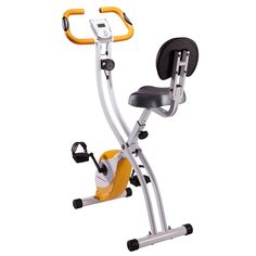 Ultrasport Foldable Exercise Bike F-Bike 200B with Pulse Sensor Grips - With Backrest: Amazon.co.uk: Sports & Outdoors