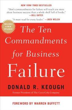 The Ten Commandments for Business Failure by Donald R. Ke... https://www.amazon.com/dp/1591844134/ref=cm_sw_r_pi_dp_U_x_oODtAbC8251FY