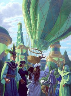 WIZARD OF OZ - THE BALLOON IS LAUNCHED - BY GREG HILDEBRANDT