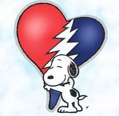 Snoopy loves the Grateful Dead