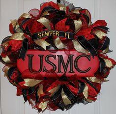Wreath Patriotic Wreath Summer Wreath by WruffleWreathsbyLana, $125.00