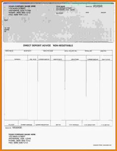Free Fillable Blank Pay Stubs OnAPage EndStub Voucher Check - Free fillable paycheck stub template