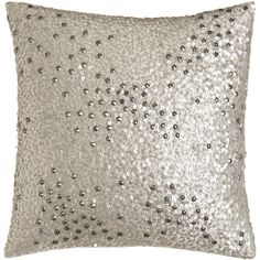 Donna Karan Home Reflection Sequin Pillow ($190) ❤ liked on Polyvore featuring home, home decor, throw pillows, pillows, decor, ivory, sequin throw pillow, donna karan, ivory throw pillows and beige throw pillows