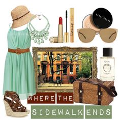 Maybe you're a city slicker without access to the wilderness---or maybe you just despise the mosquitoes.  So get dolled up in a pretty mint green dress belted with a brown belt.  Wear it with tall but comfy wedges, a matching necklace, and bucket-style straw hat.  Coat your lashes with mascara and swipe on some bright red lipstick.  Hit the town in style with a light picnic lunch to be eaten on a park bench while people-watching from behind big, retro sunglasses.
