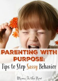 Tips for parents to stop sassy behavior